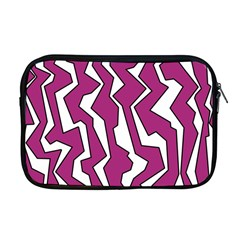 Electric Pink Polynoise Apple Macbook Pro 17  Zipper Case by jumpercat