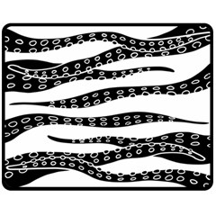 Hand Made Tentacle Double Sided Fleece Blanket (medium)  by jumpercat