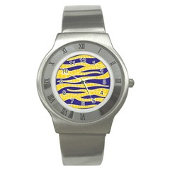 Yellow Tentacles Stainless Steel Watch by jumpercat
