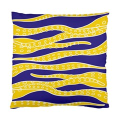 Yellow Tentacles Standard Cushion Case (one Side) by jumpercat