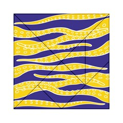 Yellow Tentacles Acrylic Tangram Puzzle (6  X 6 ) by jumpercat