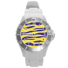 Yellow Tentacles Round Plastic Sport Watch (l) by jumpercat