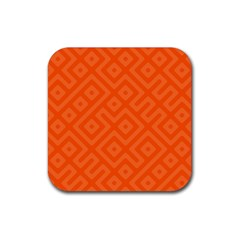 Seamless Pattern Design Tiling Rubber Square Coaster (4 Pack)