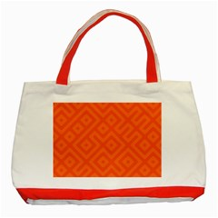 Seamless Pattern Design Tiling Classic Tote Bag (red)