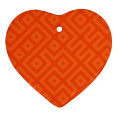 Seamless Pattern Design Tiling Heart Ornament (two Sides)