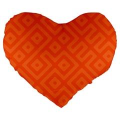Seamless Pattern Design Tiling Large 19  Premium Heart Shape Cushions