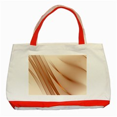 Background Light Glow Abstract Art Classic Tote Bag (red)