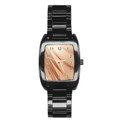Background Light Glow Abstract Art Stainless Steel Barrel Watch