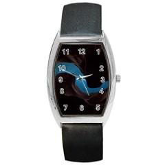 Abstract Adult Art Blur Color Barrel Style Metal Watch