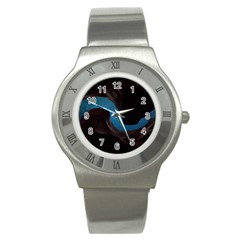 Abstract Adult Art Blur Color Stainless Steel Watch