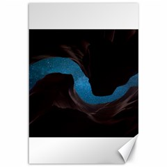 Abstract Adult Art Blur Color Canvas 12  X 18