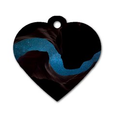 Abstract Adult Art Blur Color Dog Tag Heart (one Side)