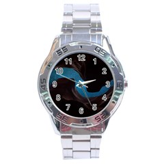Abstract Adult Art Blur Color Stainless Steel Analogue Watch