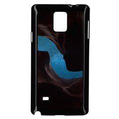 Abstract Adult Art Blur Color Samsung Galaxy Note 4 Case (black)