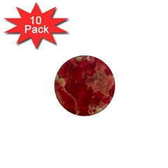 Marble Red Yellow Background 1  Mini Magnet (10 Pack)