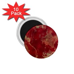 Marble Red Yellow Background 1 75  Magnets (10 Pack)