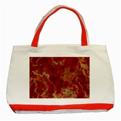 Marble Red Yellow Background Classic Tote Bag (red)