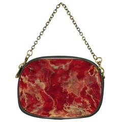 Marble Red Yellow Background Chain Purses (one Side)