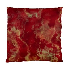 Marble Red Yellow Background Standard Cushion Case (one Side)