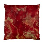 Marble Red Yellow Background Standard Cushion Case (Two Sides) Front