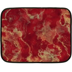 Marble Red Yellow Background Double Sided Fleece Blanket (mini)