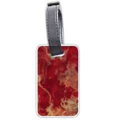 Marble Red Yellow Background Luggage Tags (two Sides)