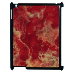 Marble Red Yellow Background Apple Ipad 2 Case (black)