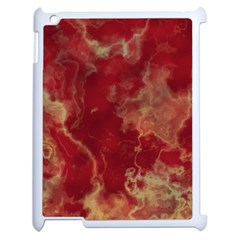 Marble Red Yellow Background Apple Ipad 2 Case (white)
