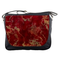 Marble Red Yellow Background Messenger Bags