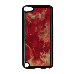 Marble Red Yellow Background Apple Ipod Touch 5 Case (black)