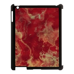 Marble Red Yellow Background Apple Ipad 3/4 Case (black)