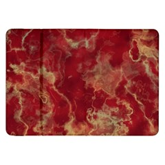 Marble Red Yellow Background Samsung Galaxy Tab 8 9  P7300 Flip Case