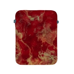 Marble Red Yellow Background Apple Ipad 2/3/4 Protective Soft Cases