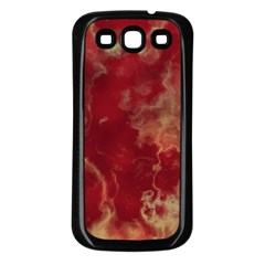 Marble Red Yellow Background Samsung Galaxy S3 Back Case (black)