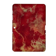 Marble Red Yellow Background Samsung Galaxy Tab 2 (10 1 ) P5100 Hardshell Case