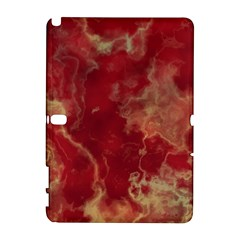 Marble Red Yellow Background Galaxy Note 1 by Nexatart