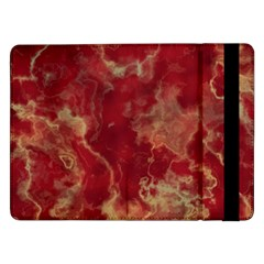 Marble Red Yellow Background Samsung Galaxy Tab Pro 12 2  Flip Case