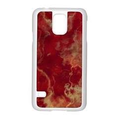 Marble Red Yellow Background Samsung Galaxy S5 Case (white)