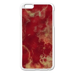 Marble Red Yellow Background Apple Iphone 6 Plus/6s Plus Enamel White Case