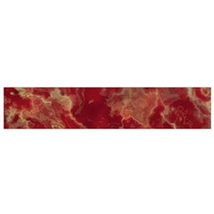 Marble Red Yellow Background Small Flano Scarf
