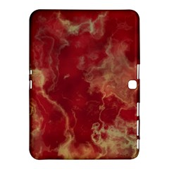 Marble Red Yellow Background Samsung Galaxy Tab 4 (10 1 ) Hardshell Case
