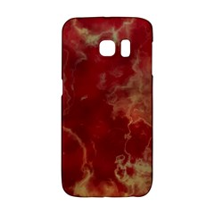 Marble Red Yellow Background Galaxy S6 Edge