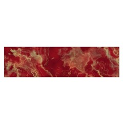 Marble Red Yellow Background Satin Scarf (oblong)