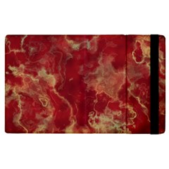 Marble Red Yellow Background Apple Ipad Pro 9 7   Flip Case by Nexatart