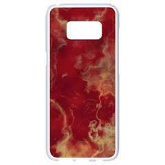 Marble Red Yellow Background Samsung Galaxy S8 White Seamless Case