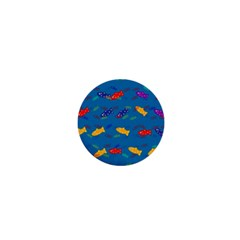 Fish Blue Background Pattern Texture 1  Mini Magnets