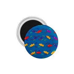 Fish Blue Background Pattern Texture 1 75  Magnets