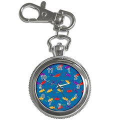 Fish Blue Background Pattern Texture Key Chain Watches