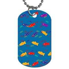 Fish Blue Background Pattern Texture Dog Tag (one Side)
