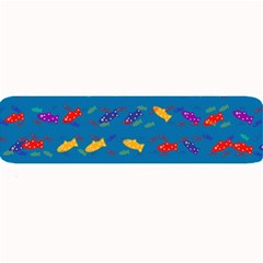 Fish Blue Background Pattern Texture Large Bar Mats